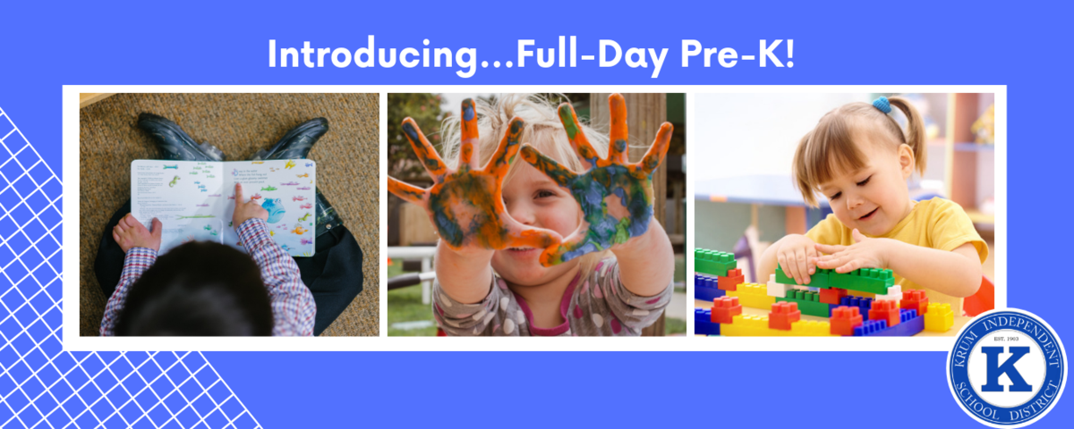 introducing full day pre-k, showing young students