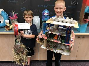 Winners from Earth Week Birdhouse Project