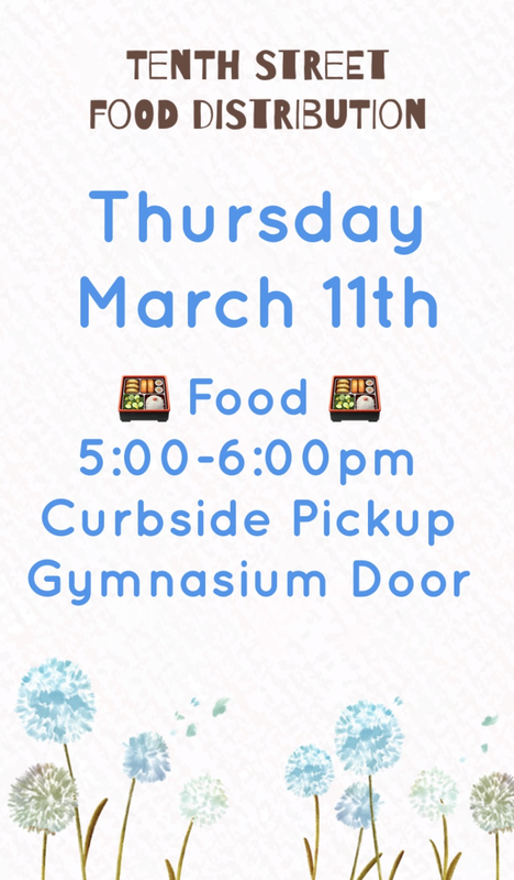 Food Distribution from 5 to 6 on March 11th