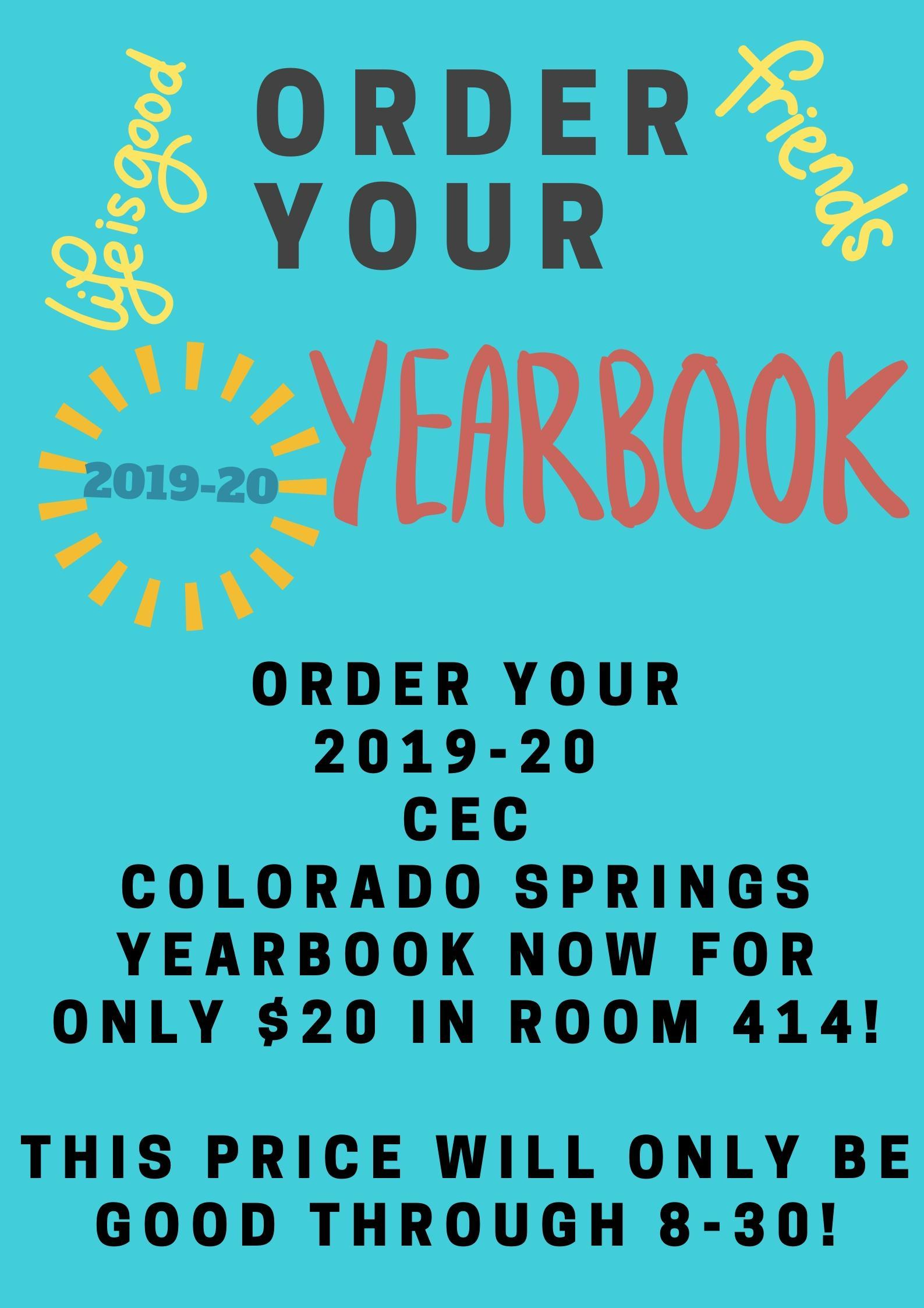 Poster advertising Yearbook price of only $20