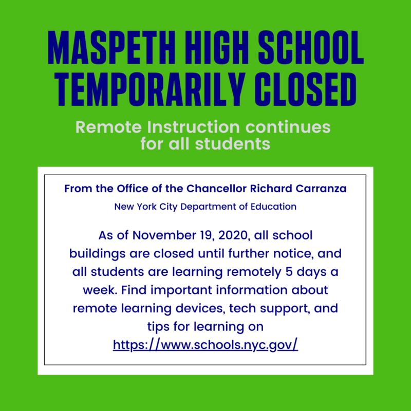 Maspeth High School Temporarily Closed