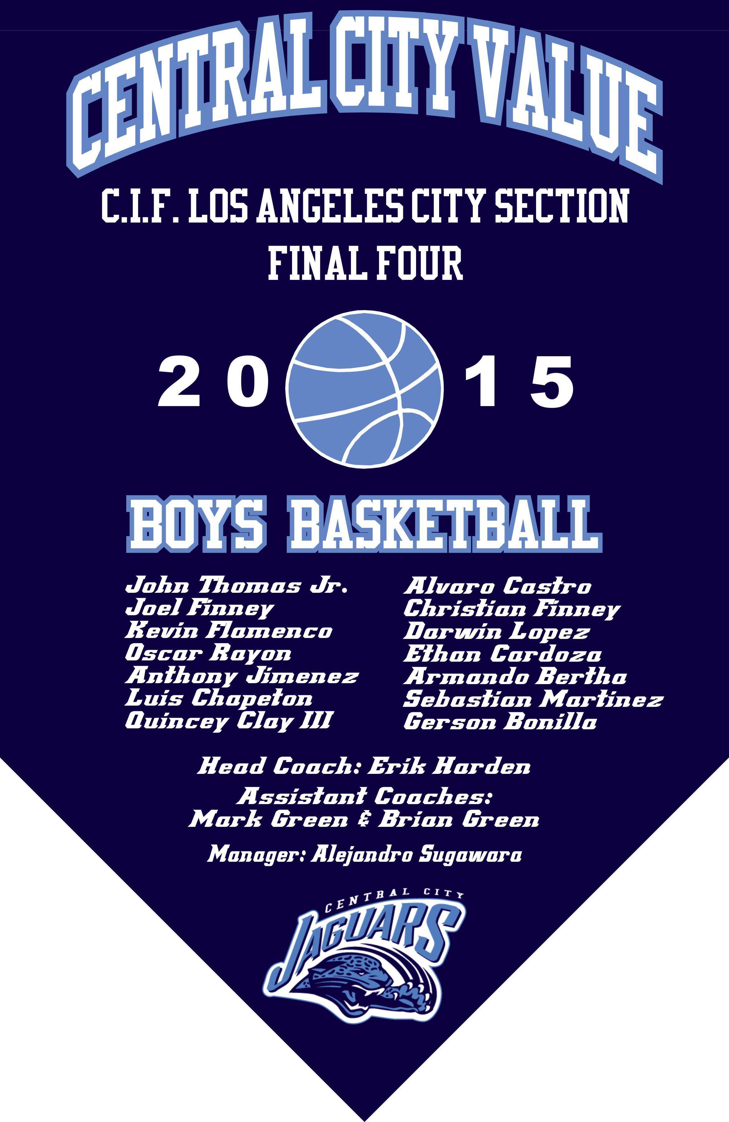 2015 Boys Basketball Final Four Banner