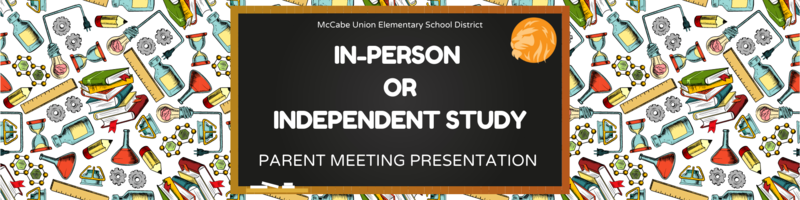 Independent Study Parent Meeting Presentation Thumbnail Image