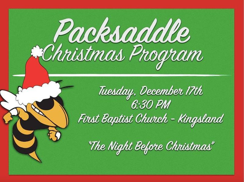 PACKSADDLE CHRISTMAS PROGRAM 12-17-19 6:30PM @ FIRST BAPTIST CHURCH KINGSLAND Featured Photo