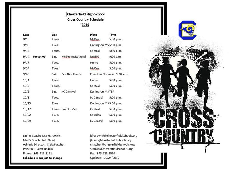 Cross Country Schedule