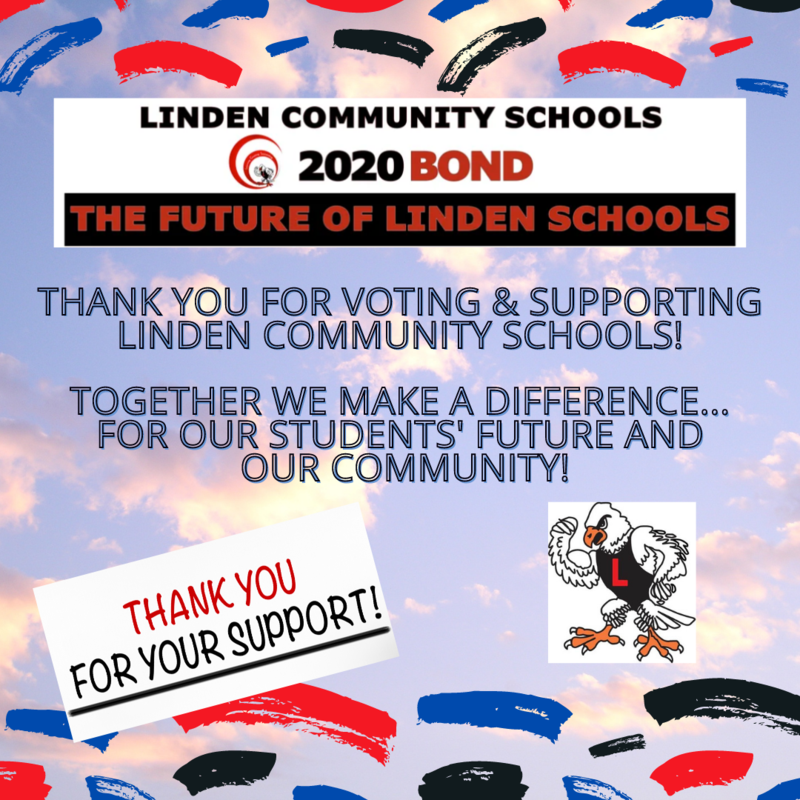 Linden Community Schools Bond Supported by Voters! Thumbnail Image