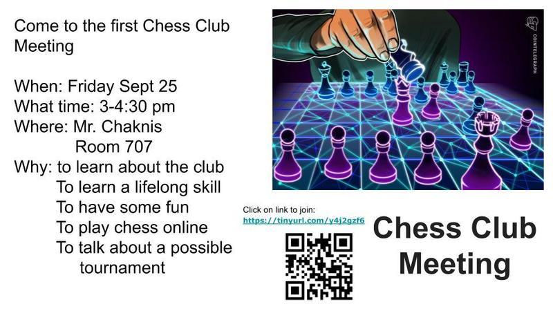 Chess Club Meeting Information
