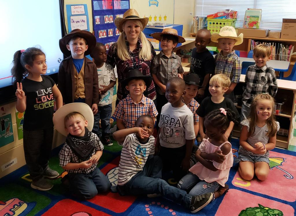 Mrs. Maher's class in cowboy clothes