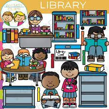 books, students and librarian