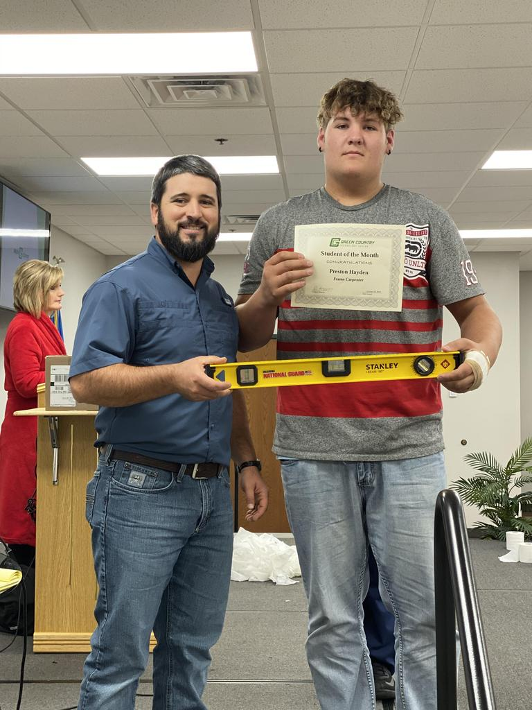 Carpentry Student of the Month