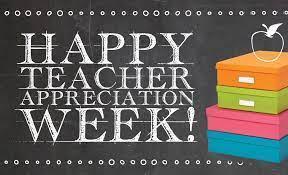 Teacher Appreciation Week May 3 - May 7 Thumbnail Image
