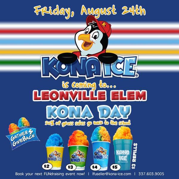 KONA ICE FRIDAY AUGUST 24TH