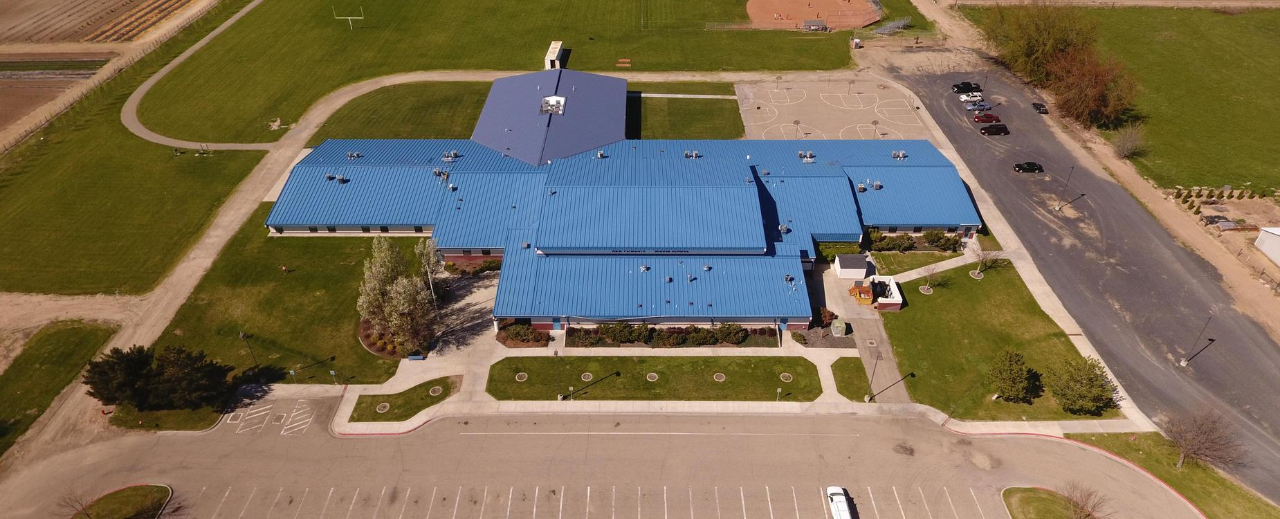 New Plymouth Middle School aerial view