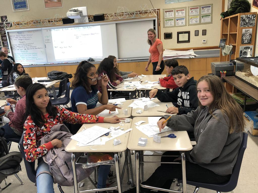SBMS students loving Math!