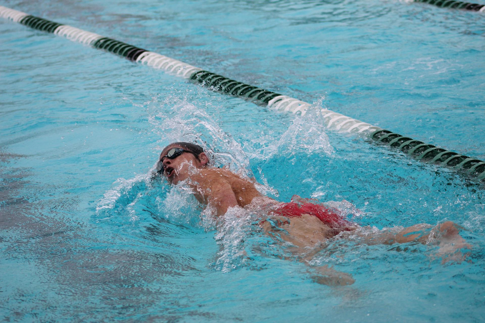 Chowchilla High swimmers in action at Hoover high