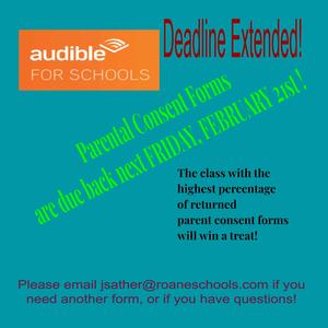 Audible for Schools - Deadline Extended