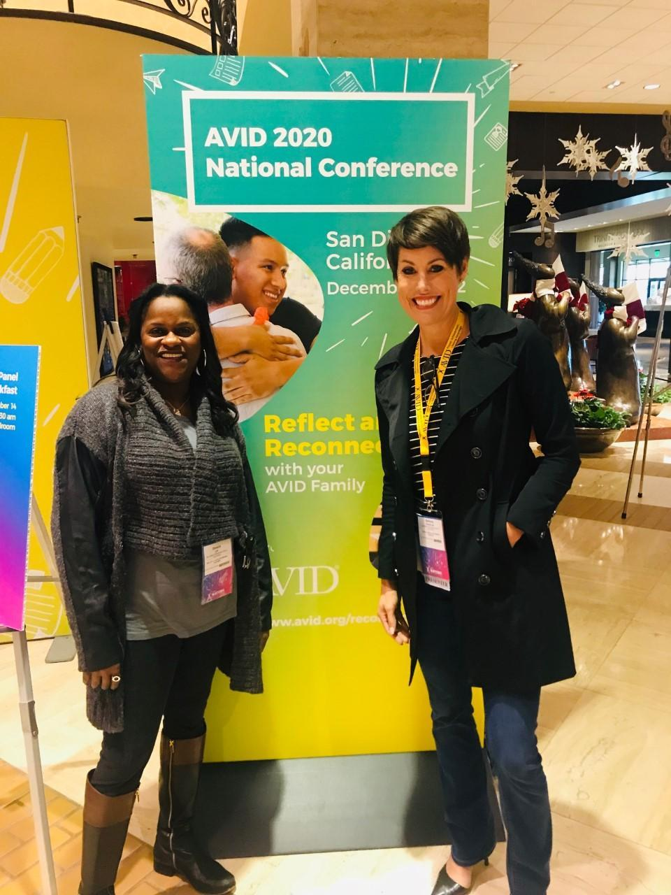 Dr. Lee and AVID TOSA Bethany Glazebrook at the National Conference in Dallas December 2019