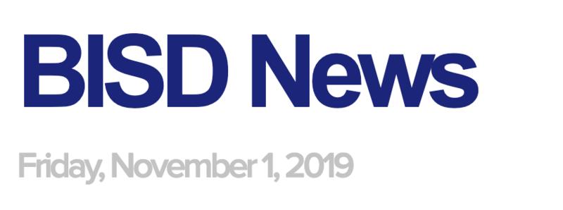BISD News: November 1, 2019