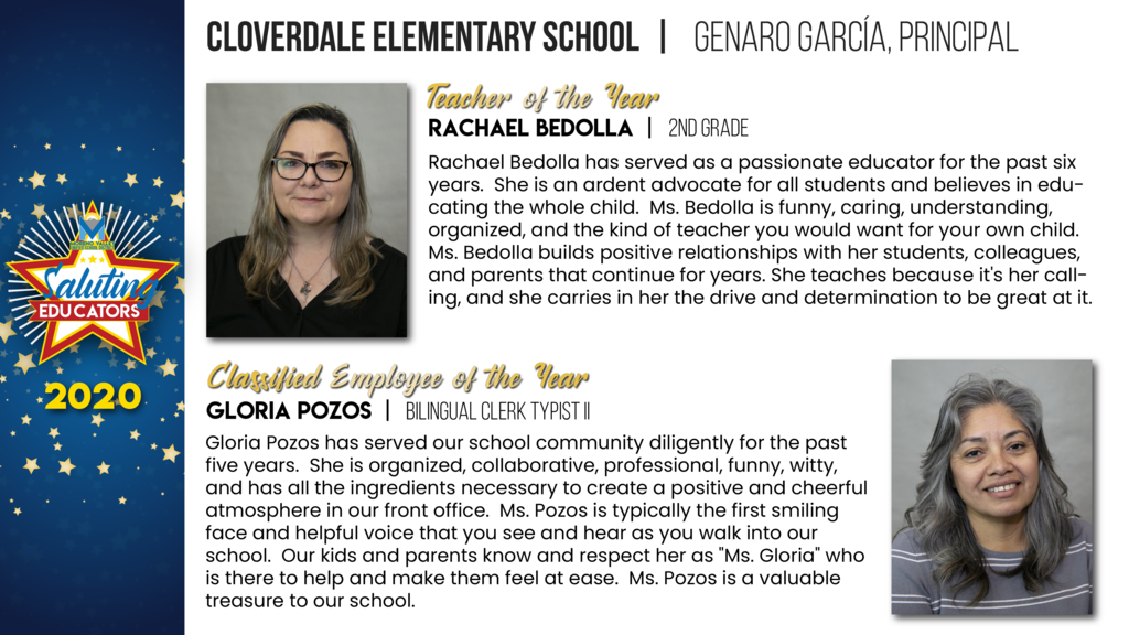 Cloverdale Elementary Employees of the Year