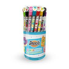picture of Smencil pencils in a container all different colors
