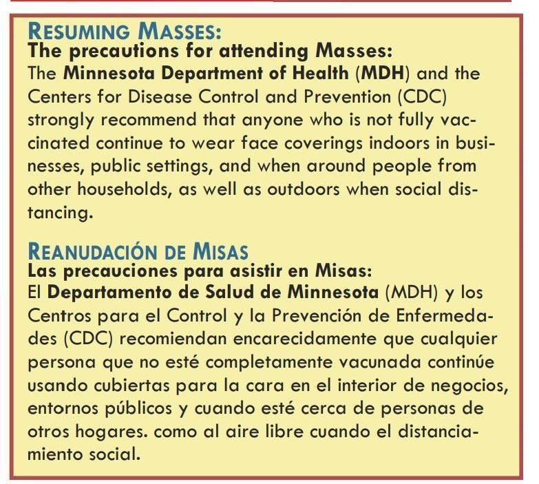 Resuming Masses Featured Photo