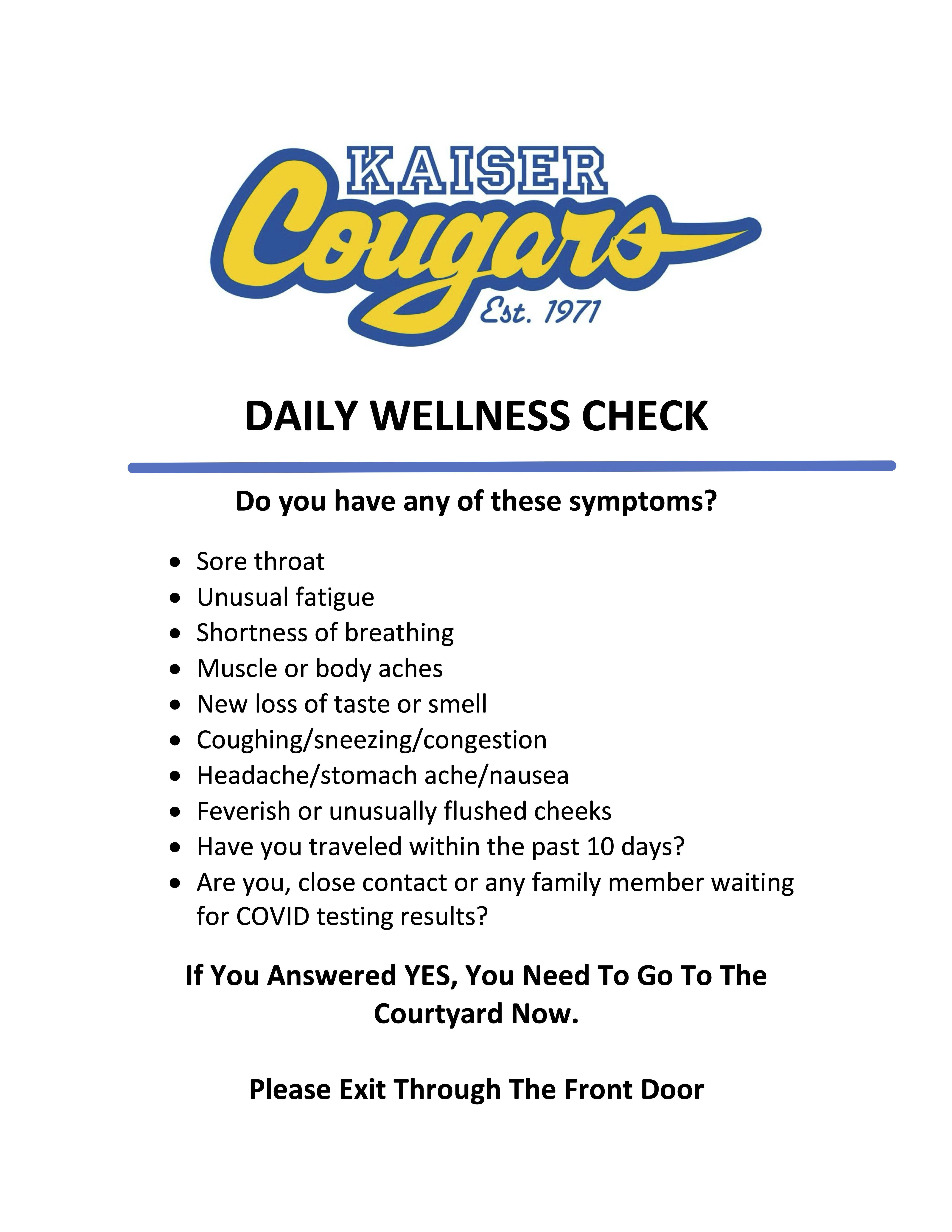 Daily Wellness Check Poster