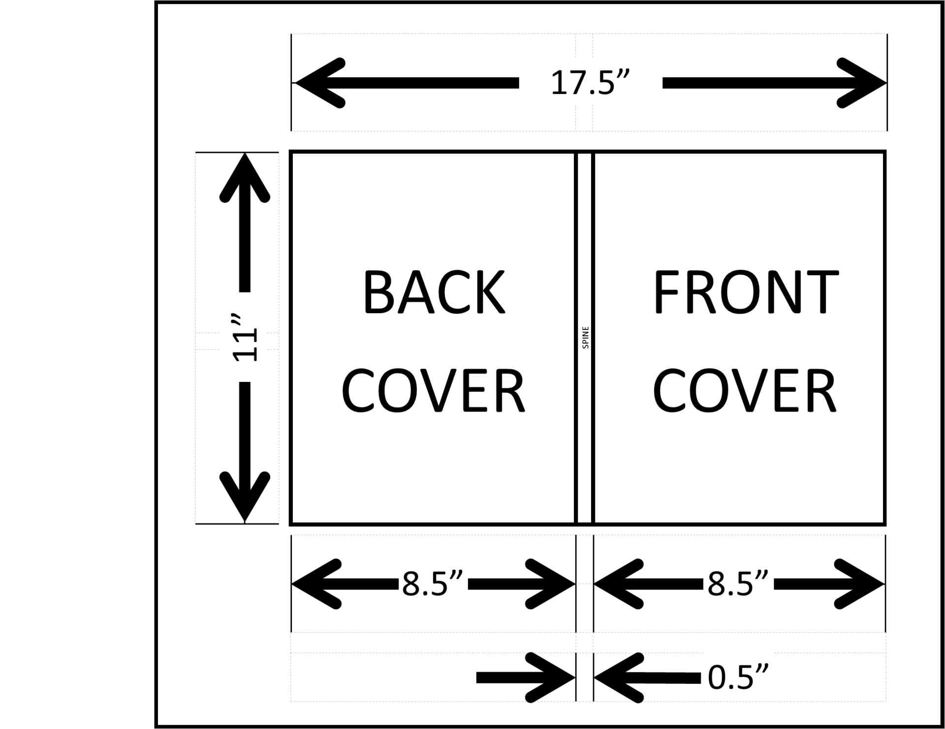 Dimensions of yearbook cover