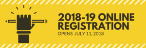 Online Registration Opens July 11, 2018