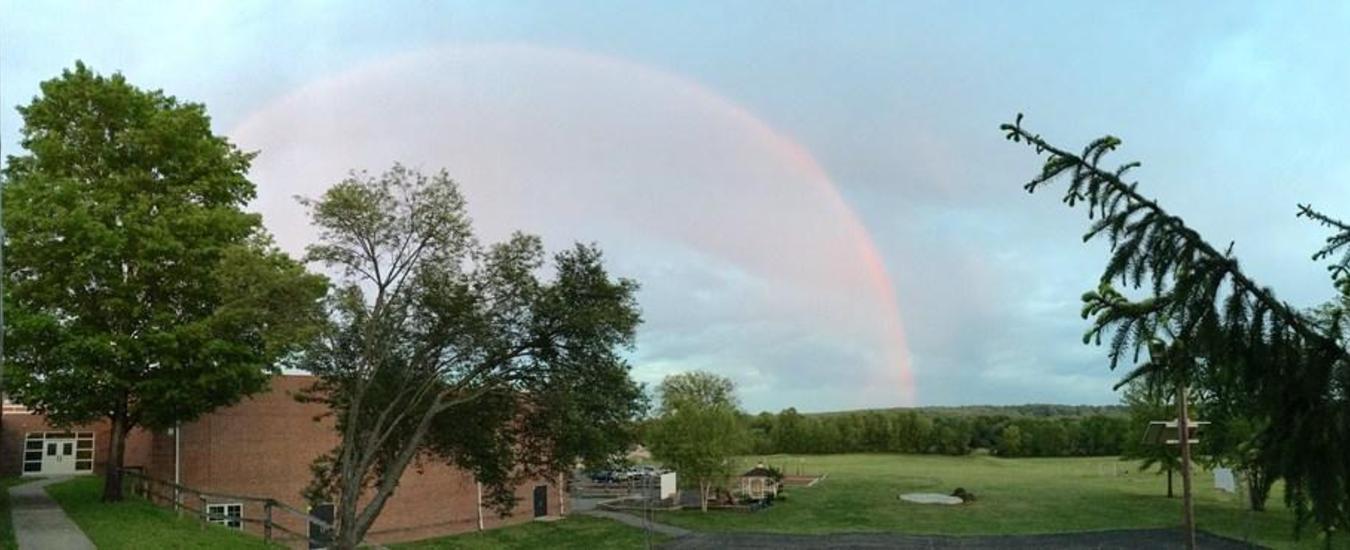 Rainbow over Hopewell Elementary School