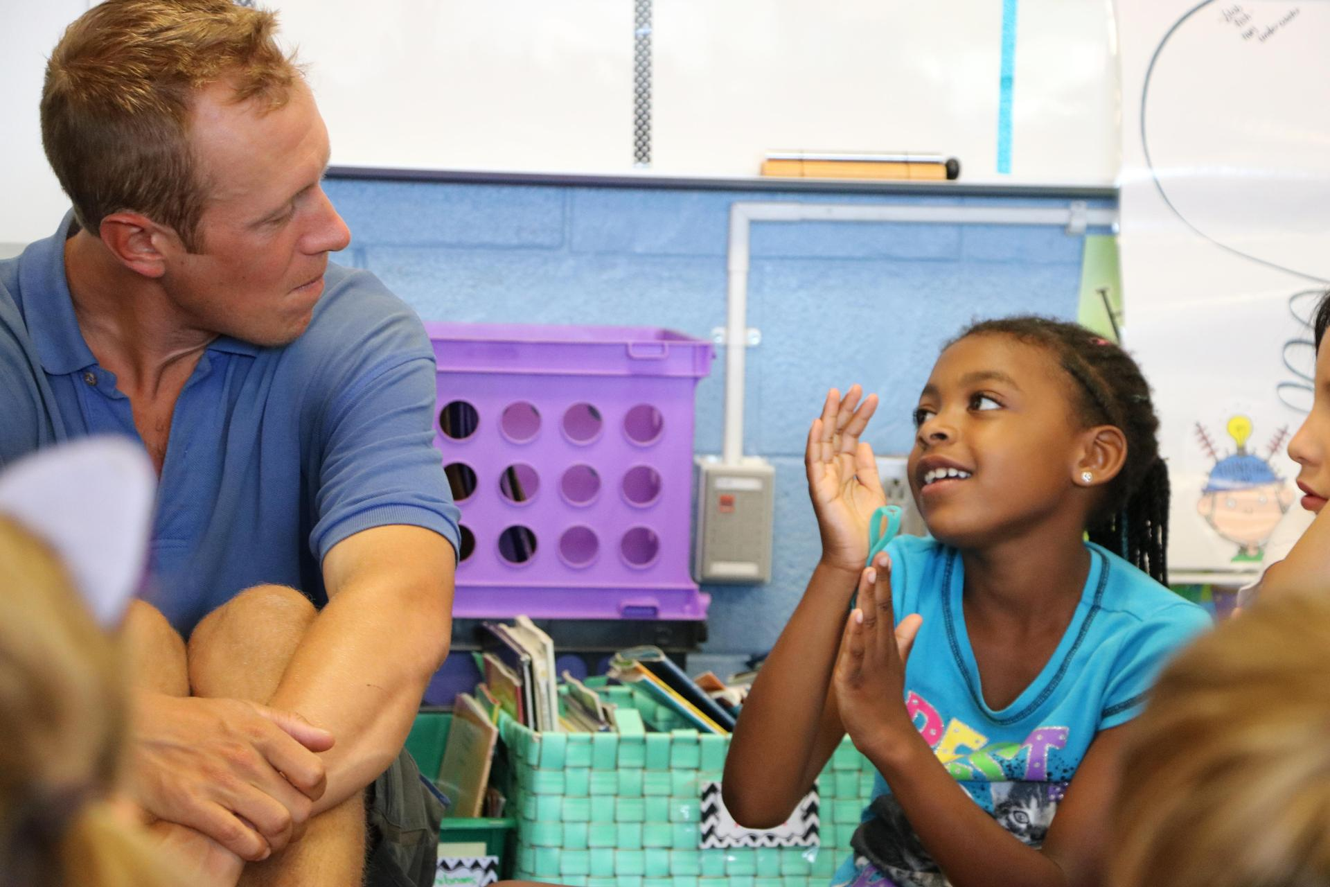 teacher and student talk