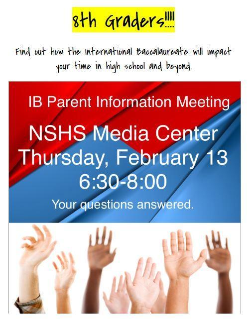IB Information for 8th Grade Parents Featured Photo