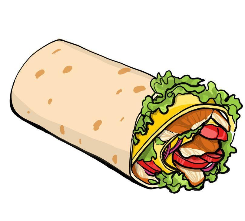 Shaurma chicken roll Royalty Free Vector Image
