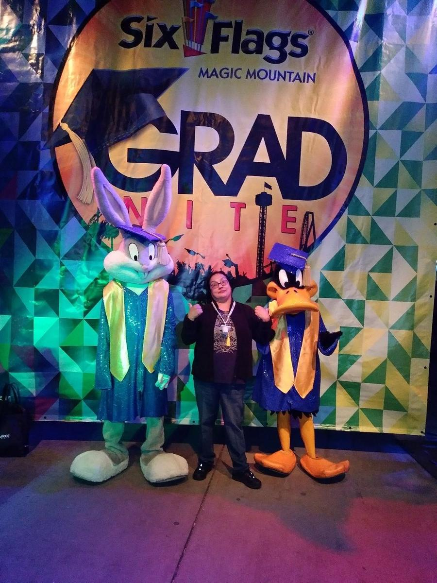Bugs, Daffy, and I went 'looney tunes'  at Grad Night 2018!