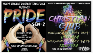 Pride Gen Z and Christian Club Graphic
