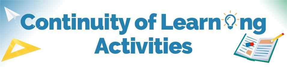 Continuity of Learning Activities banner