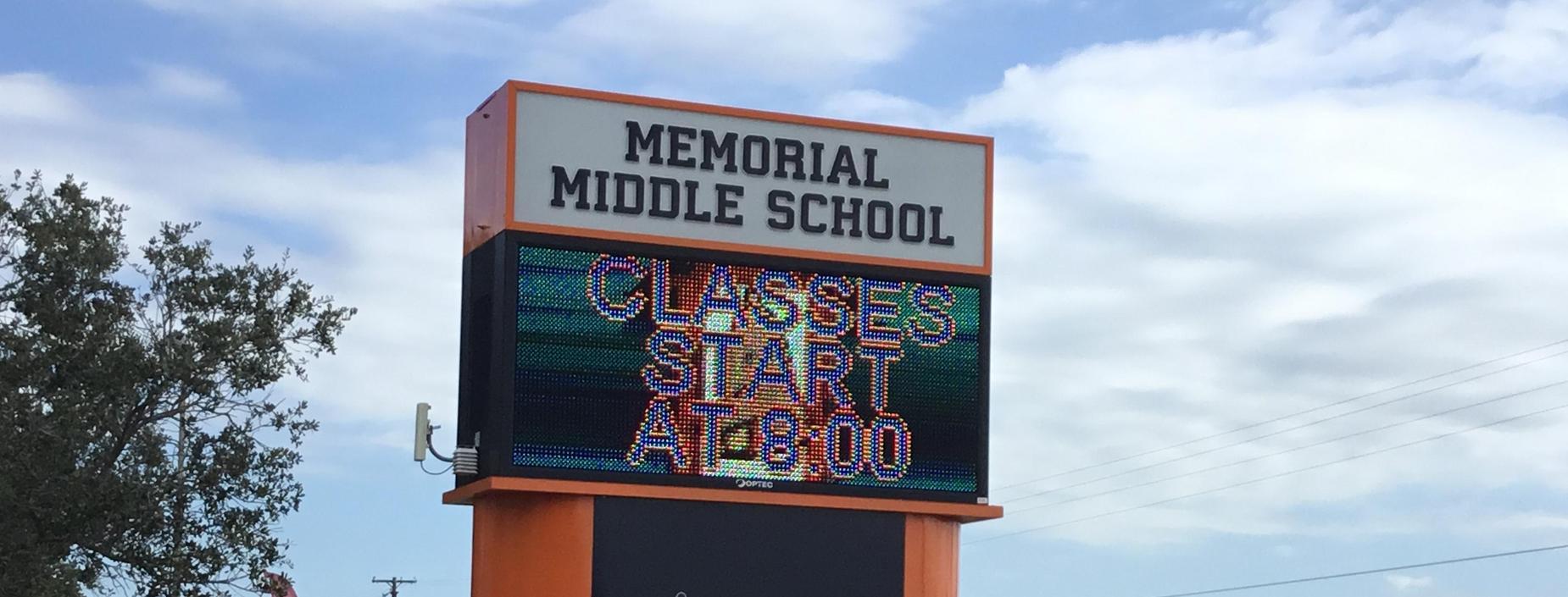 School starts at 8:00