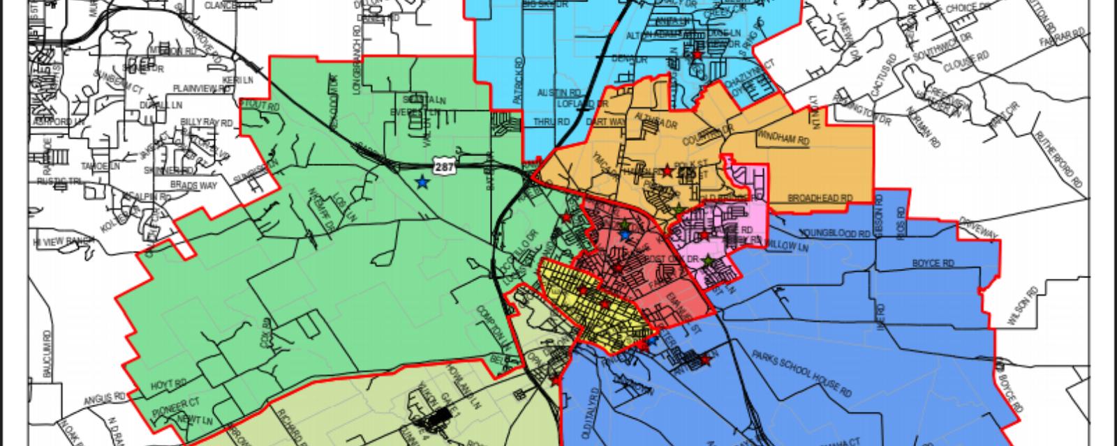 map showing school zones