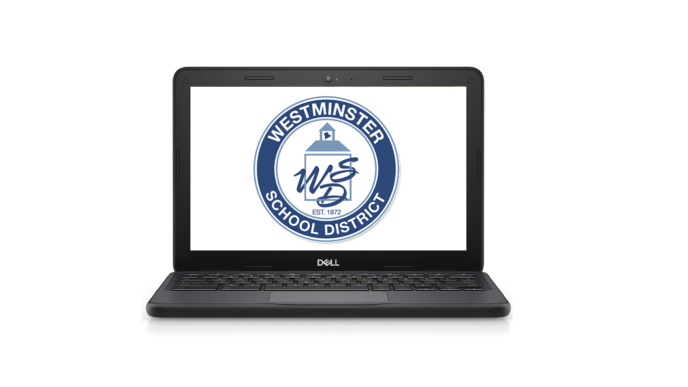 Chromebook with WSD Logo.