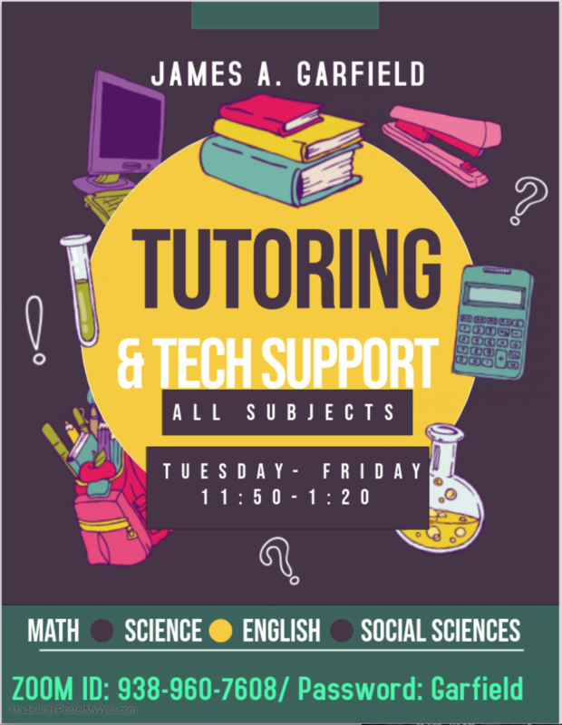 GHS Tutoring & Tech Support- ALL SUBJECTS