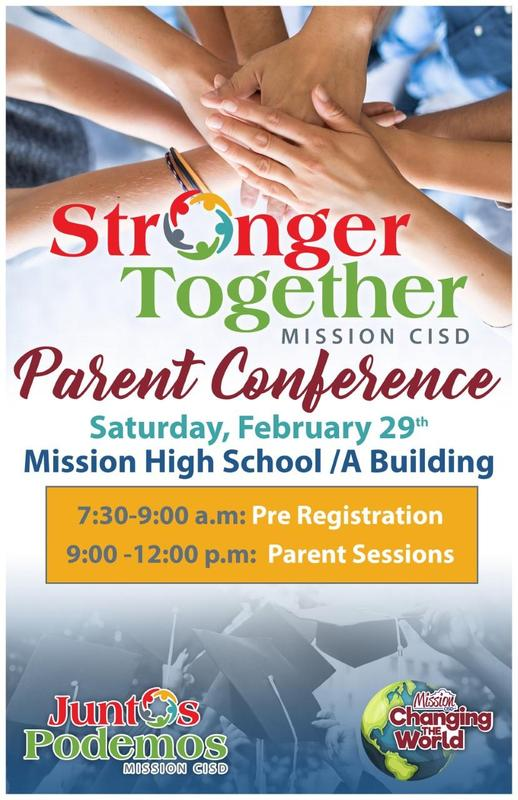 Stronger Together/Juntos Podemos MISSION CISD PARENT CONFERENCE Featured Photo