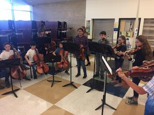 Orchestra Students at Open House