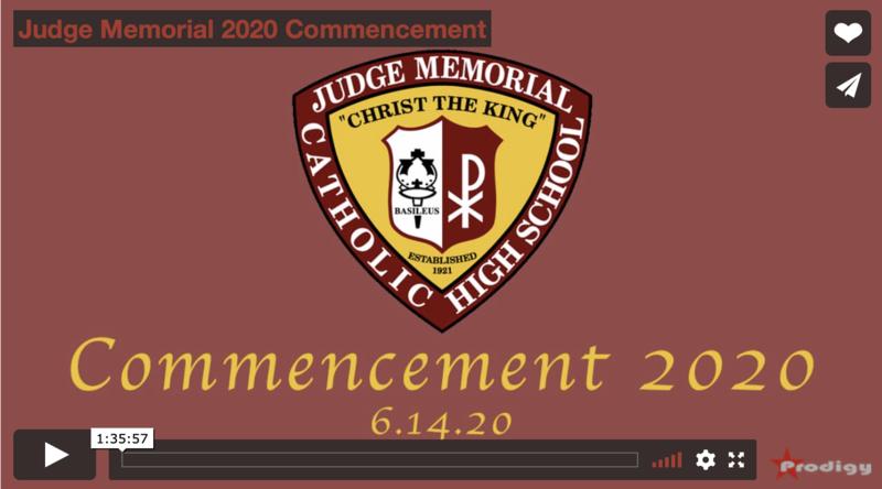 Judge Memorial 2020 Commencement Featured Photo