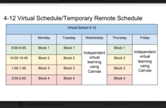 IWCS Remote Learning Schedule Grades 4-12
