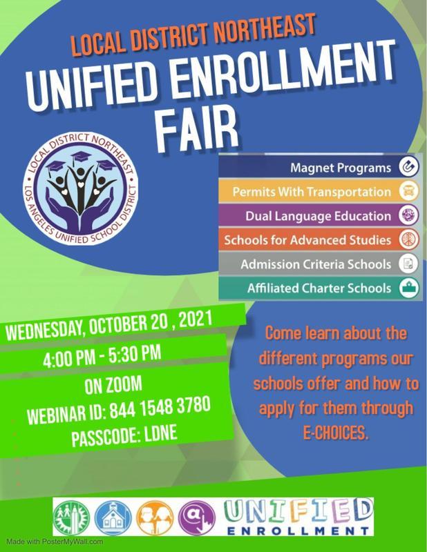 LAUSD Northeast Unified Enrollment Fair Featured Photo