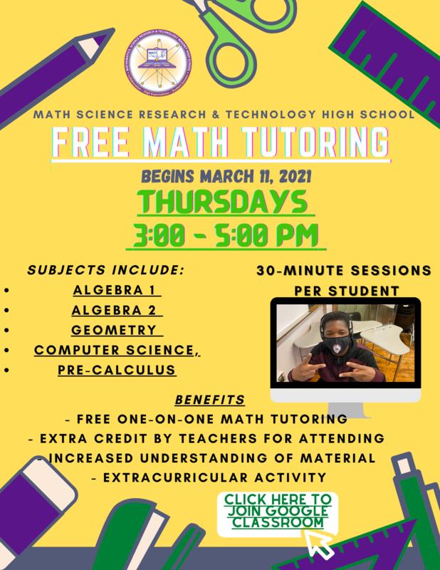 free math tutoring flyer