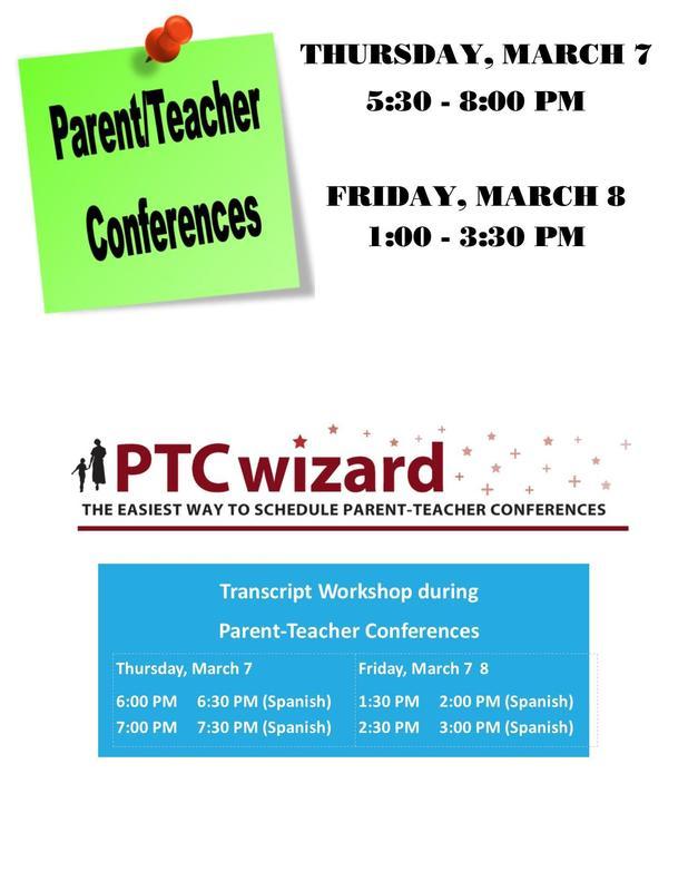 Parent-Teacher Conference - 3/7 & 3/8 Featured Photo