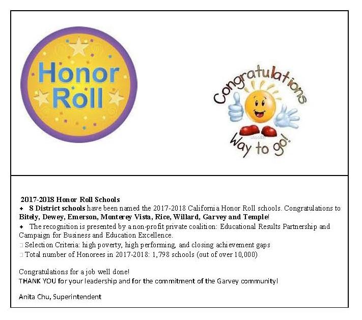 Honor Roll Schools