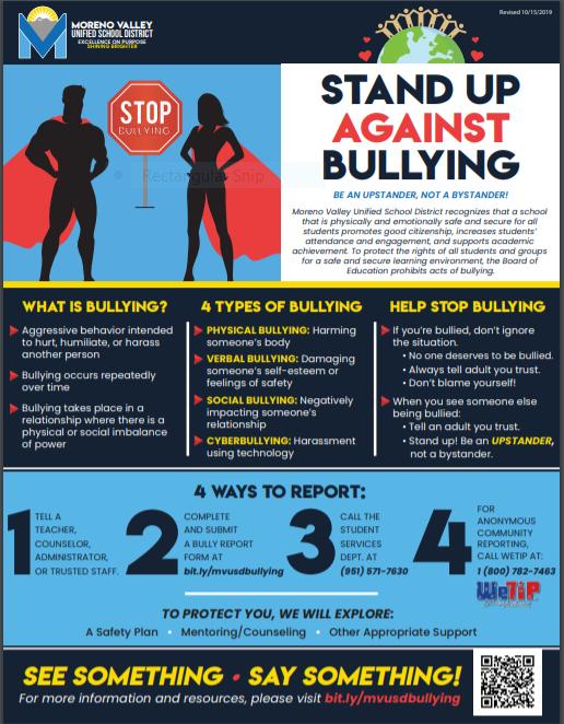 MVUSD Bullying Flyer