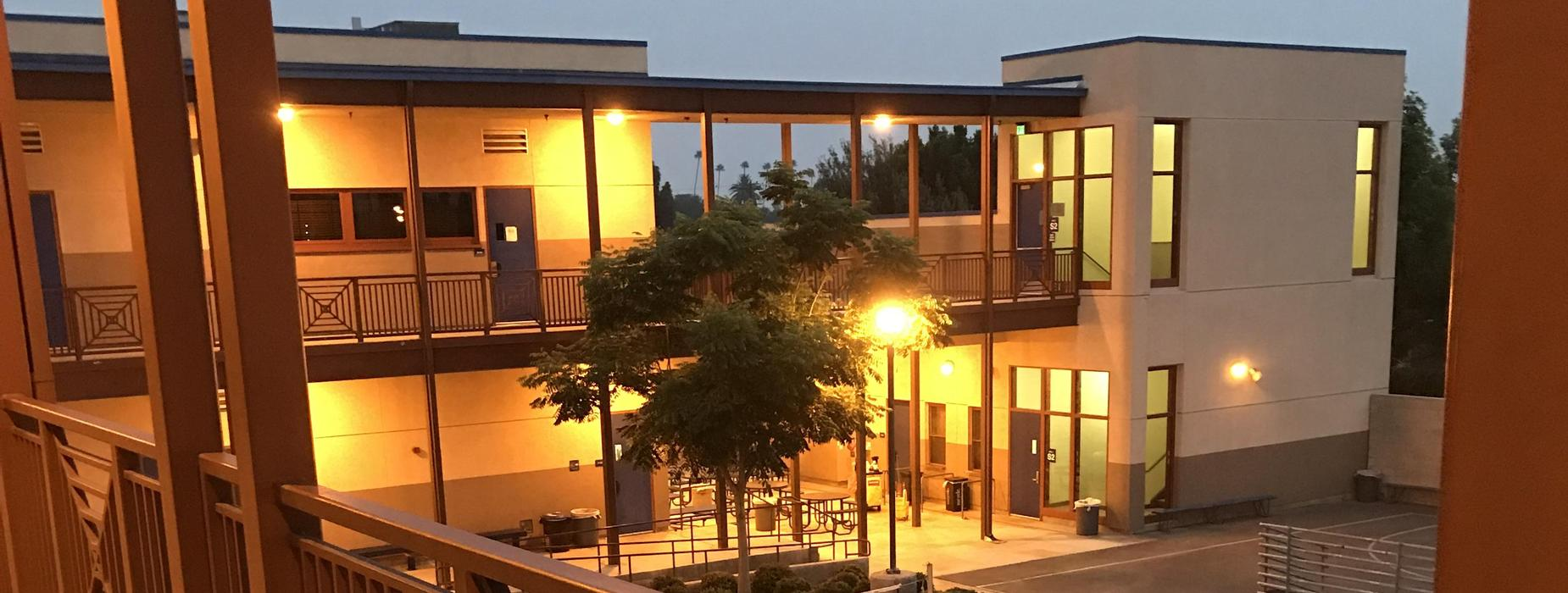 CHS Building at night