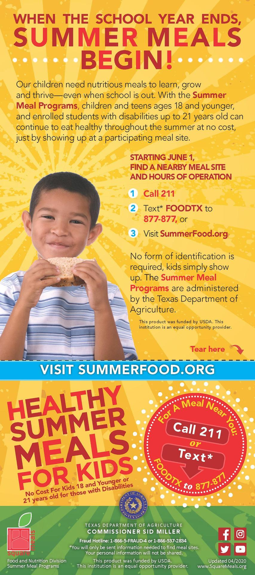 Student Summer Meals